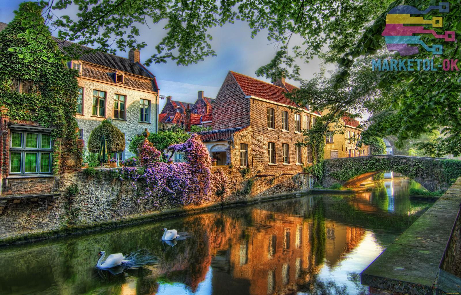Идеи фотообоев с сюжетами городов Бельгии.