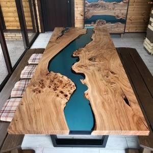 Слэб из карагача. мебель из массива и слэбов,смола столешница эпоксидный,стиль лофт мебель